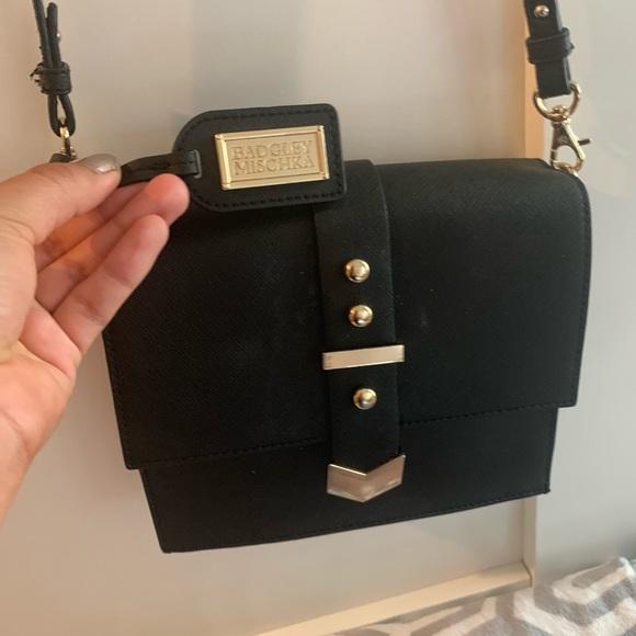 Badgley Mischka Handbags - Badgley Mischka crossbody bag with gold details